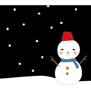 初雪が降りました。